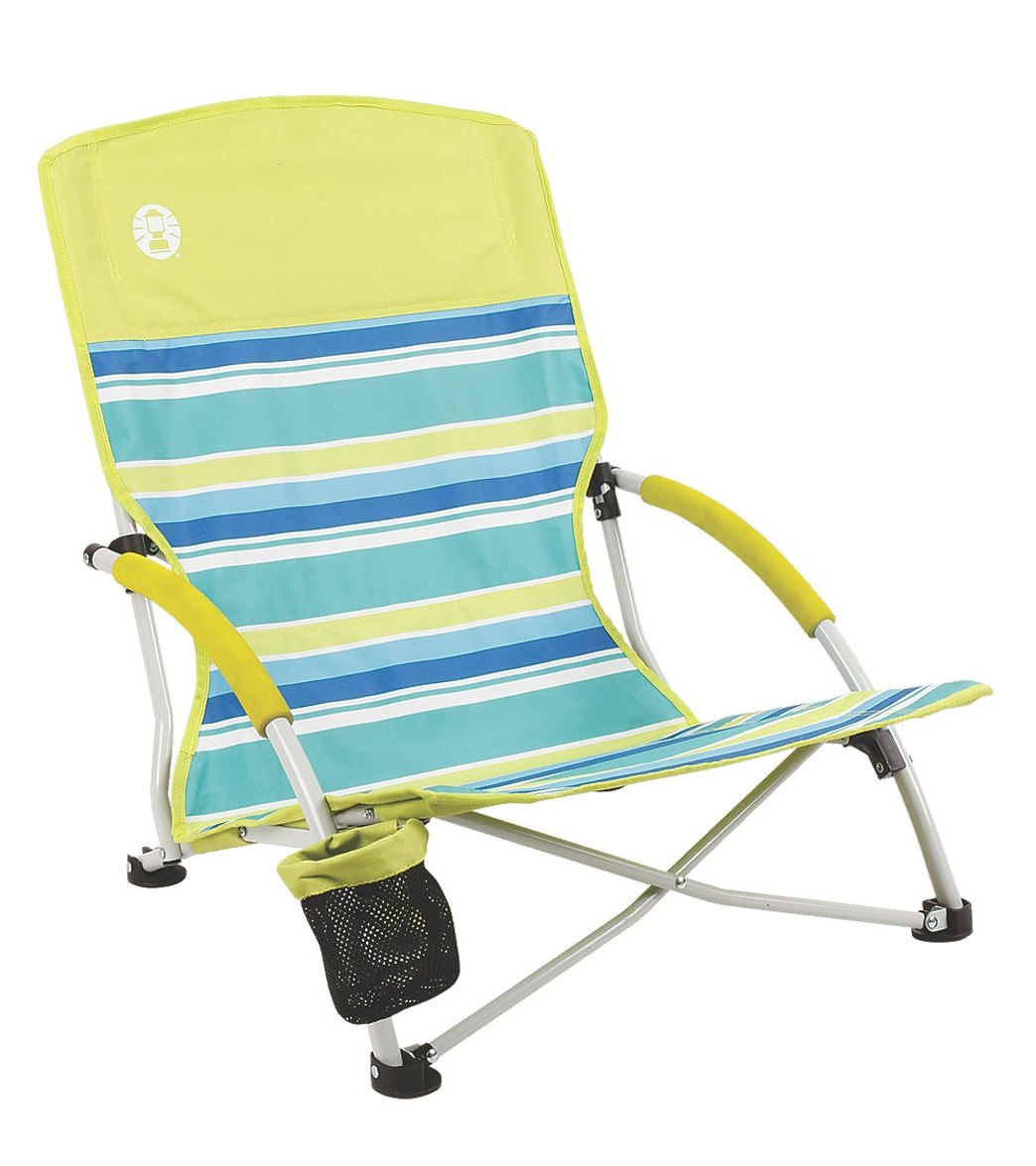 Coleman Deluxe Low Sling Beach Chair at SwimOutlet – Deluxe Beach Chairs