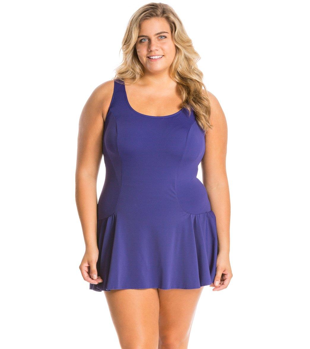 Plus Size Swim Dresses for Women