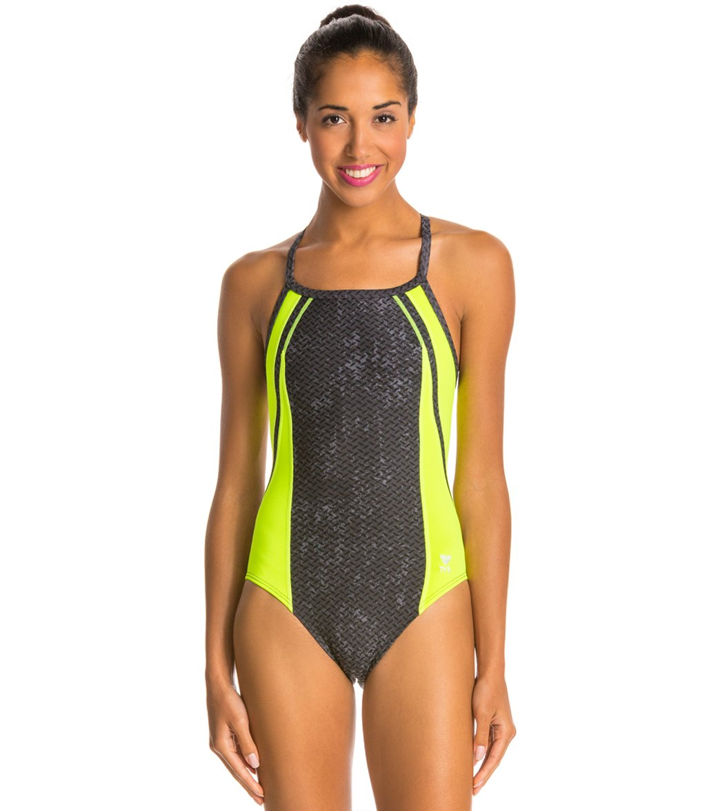 TYR Viper Diamondfit One Piece Swimsuit at SwimOutlet.com - Free Shipping