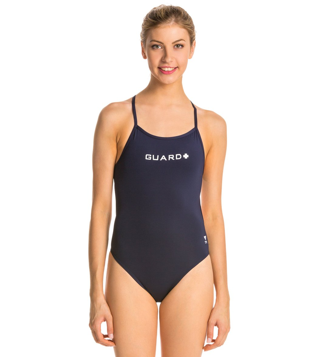 43a231a37e2 TYR LifeLifeguard Durafast Lite Crosscutfit One Piece Swimsuit