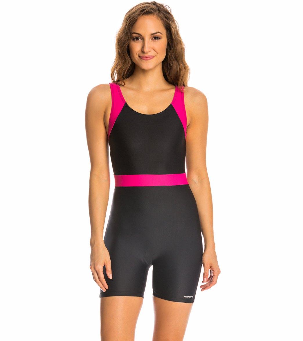 66ea1790c26 in Plus Size · Sporti Unitard Colorblock One Piece Swimsuit