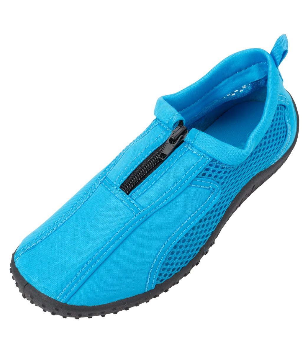 Rockin Footwear Kids' Aqua Neon Zipper Water Shoes at SwimOutlet.com