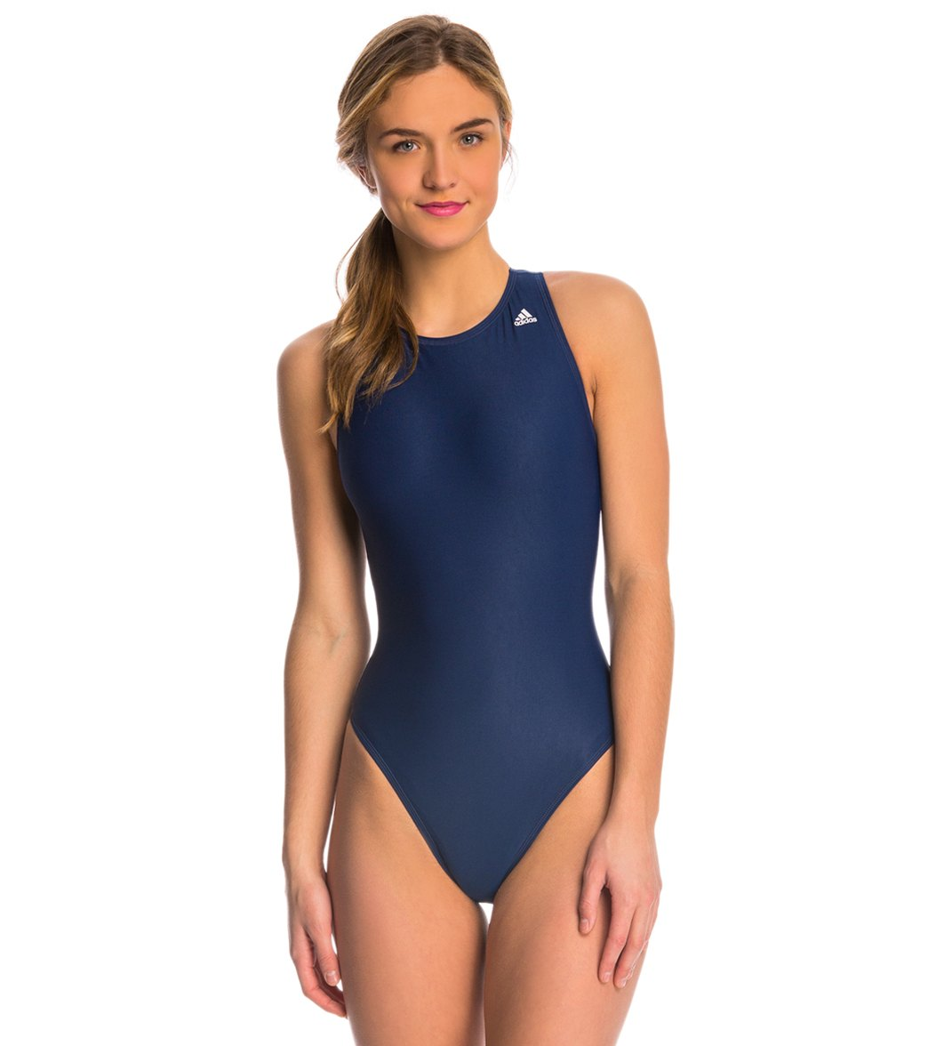 ecc6628c28 Adidas High Neck One Piece Waterpolo Swimsuit