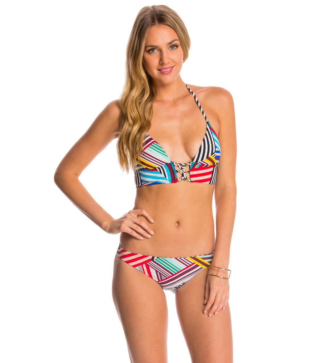 red carter mediterranean vacation reversible cali hipster bikini