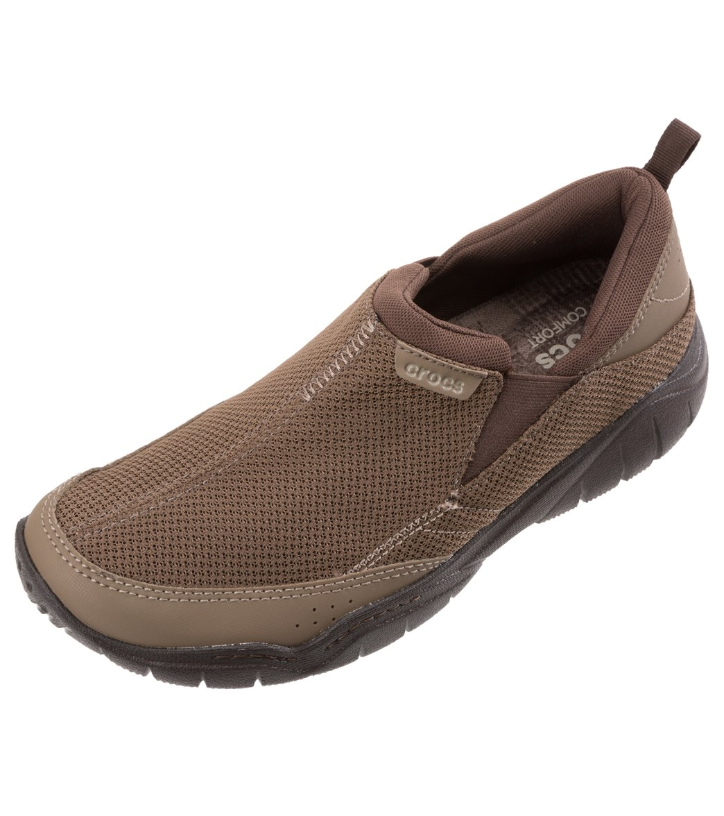 Crocs Men's Swiftwater Mesh Moc Slip On at SwimOutlet.com - Free Shipping
