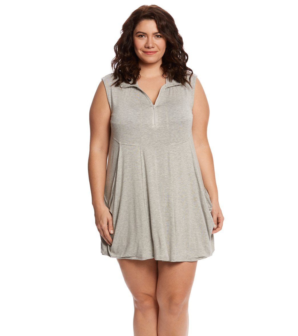 Jldi Plus Size Zip Front Dress At Swimoutlet Free Shipping