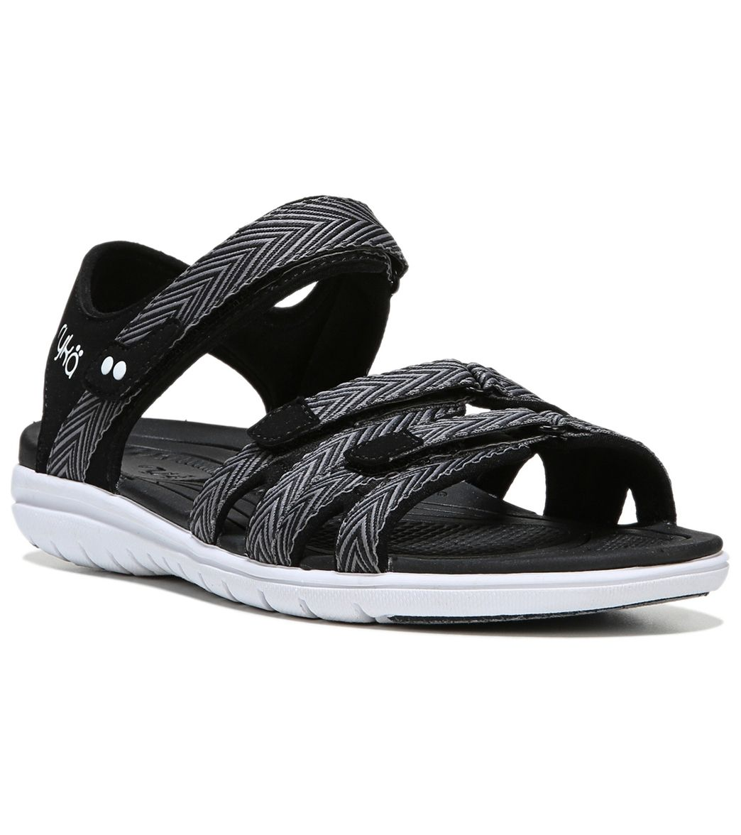 Ryka Women's Savannah Sport Sandal, Black/Frost Grey, 11 M US