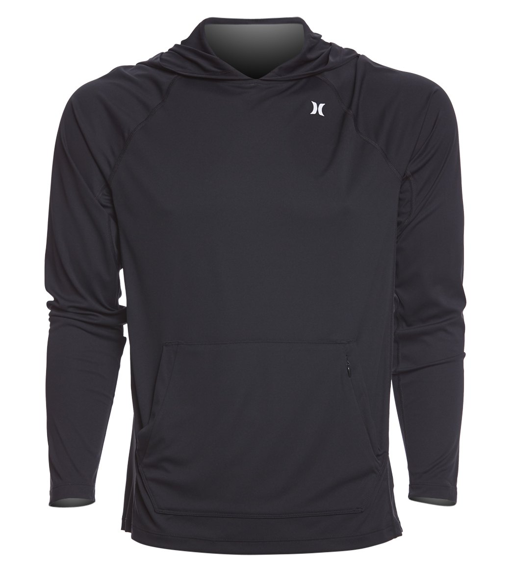 Hurley Men's Wet/Dry Icon Hooded Long Sleeve Surf Shirt at SwimOutlet.com -  Free Shipping
