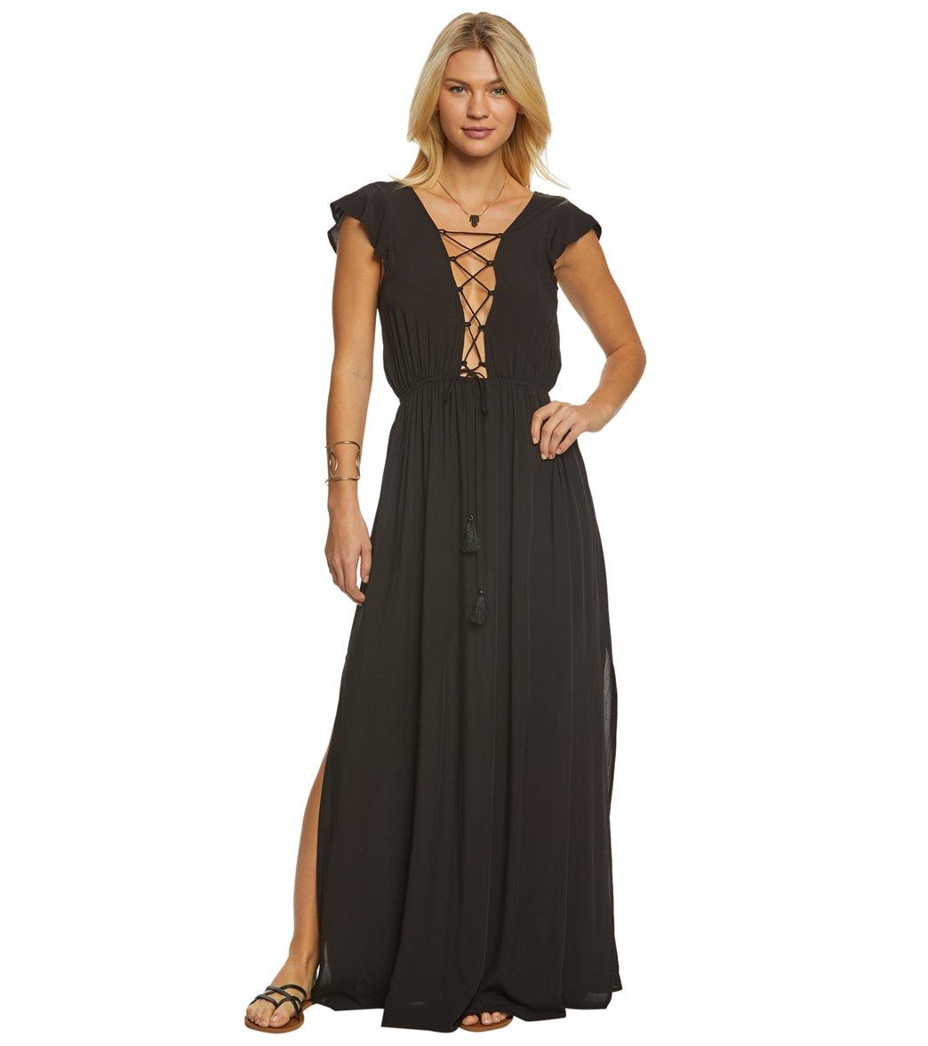 Vince Camuto Riviera Solid Maxi Cover Up Dress at SwimOutlet.com ...