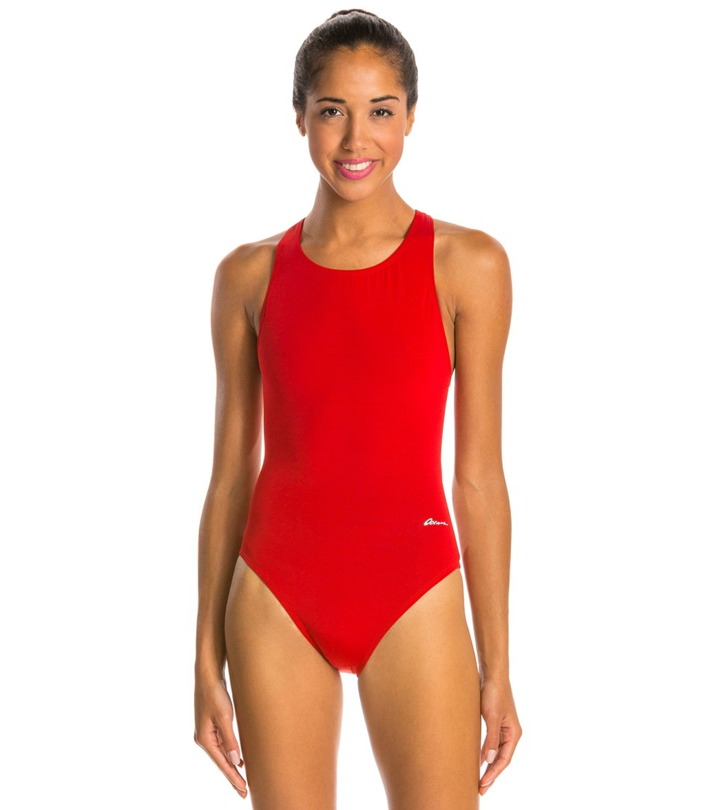 25f8ff2ba26 Ocean Racing by Dolfin Solid Performance Back One Piece Swimsuit