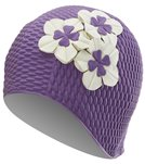 Sporti Floral Bubble Cap - Purple/White Flowers