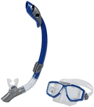 U.S. Divers Sideview Purge LX/Paradise Dry II LX Mask and Snorkel Set