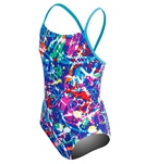 Speedo Girls' Graphic Grafitti One Piece (7-16) - Black - 10