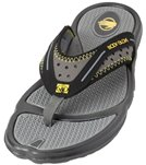 Body Glove Men's Kona Flip Flop - Black/Yellow - 11