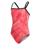 Sporti Polyester Linear Thin Strap Swimsuit Youth (22-28)