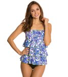 Fit4U Post-Mastectomy Dolce Triple Tiered Bandeau Tankini Top