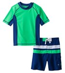 Cabana Life Boys' Swim Shorts and S/S Rashguard Set (8-14yrs)