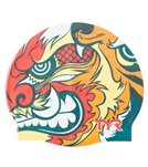 TYR Battle Kabuto Graphic Silicone Cap - Red Multi
