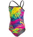 Sporti Strokes Thin Strap Swimsuit Youth - Multi - 28Y